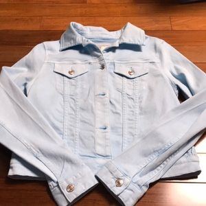 NWT Michael Kors Jean Jacket size Small in Cloud